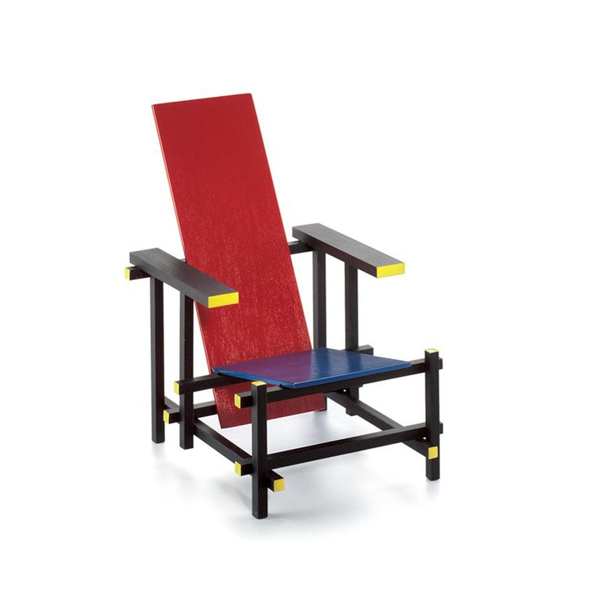 Bekend Vitra - Miniatuur Rood Blauwe Stoel   Connox EL63