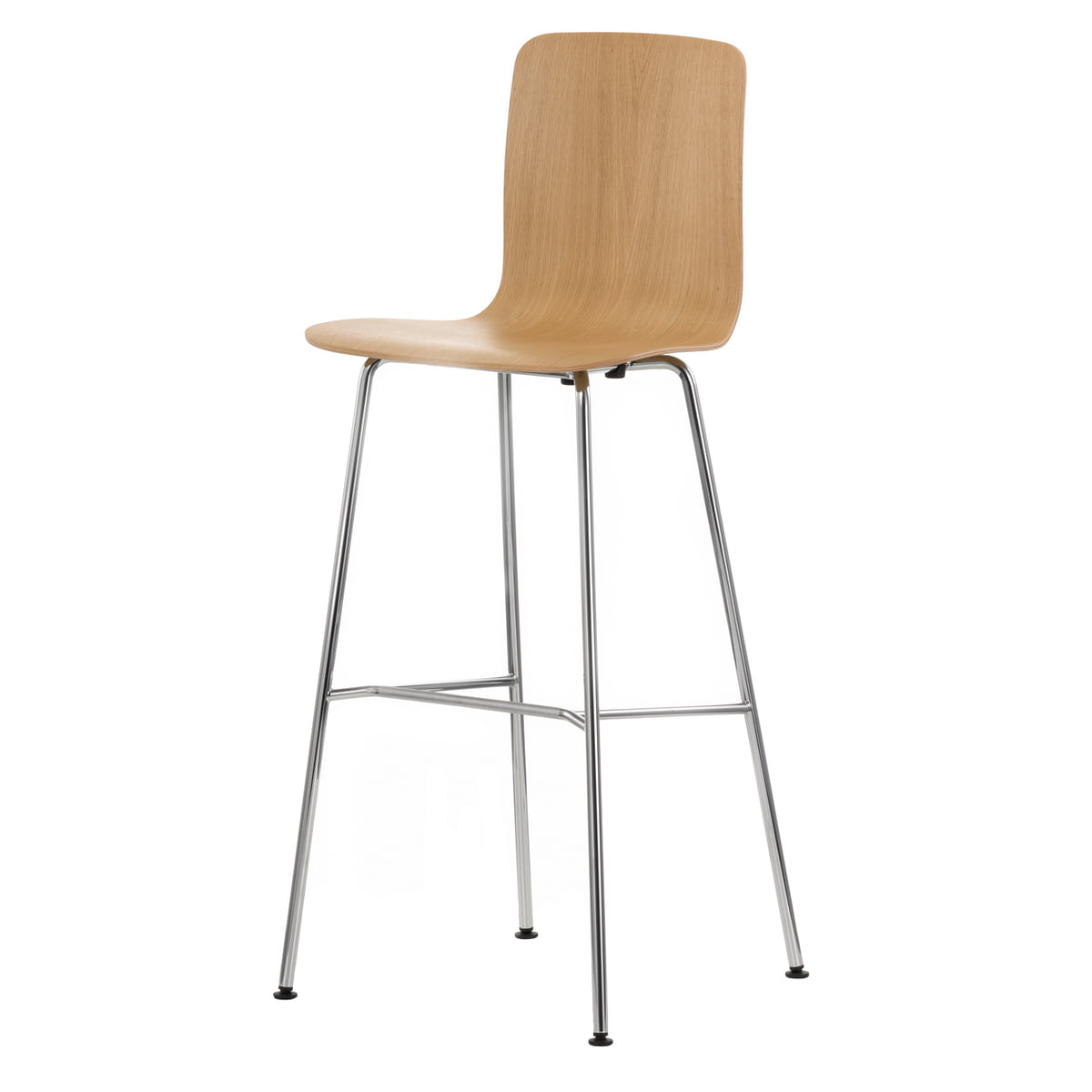 Admirable Vitra Hal Ply Stool High Glanzend Eikenhout Kunststof Pads Gmtry Best Dining Table And Chair Ideas Images Gmtryco