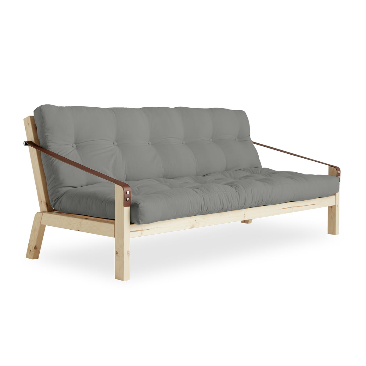 Lederen Design Slaapbank.Karup Design Poetry Sofa Grenen Naturel Grijs 746