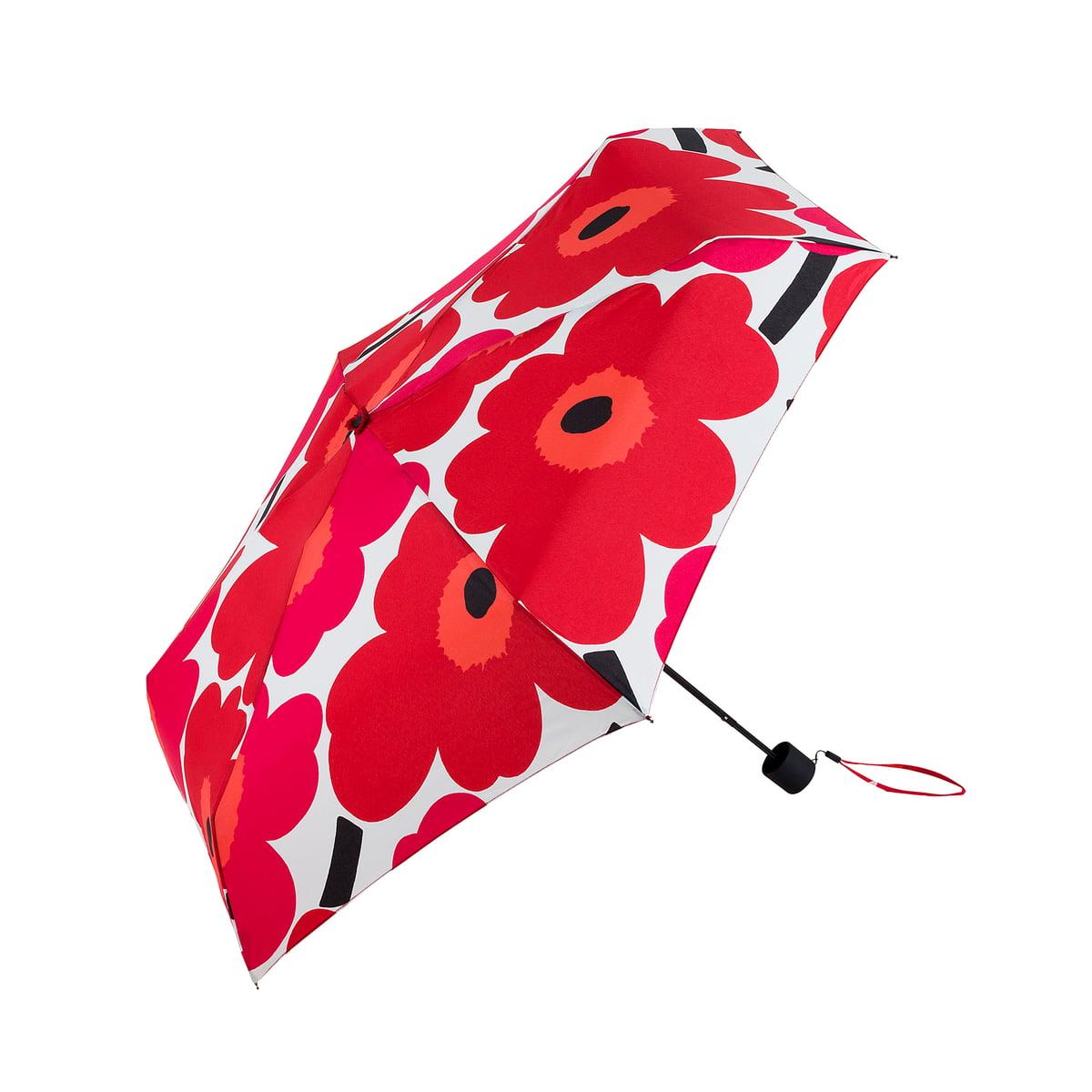 Paraplu Vouwen Van Theedoeken.Marimekko Pieni Unikko Mini Paraplu Rood