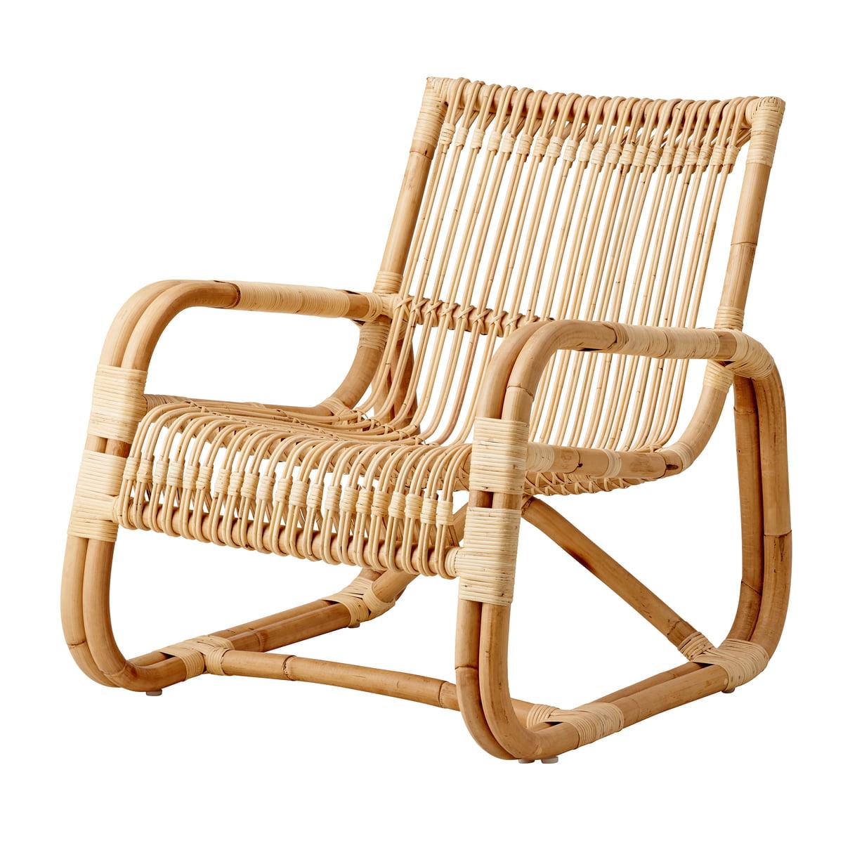 Lounge Stoel Gebruikt.Cane Line Loungestoel Curve Voor Binnenshuis Connox