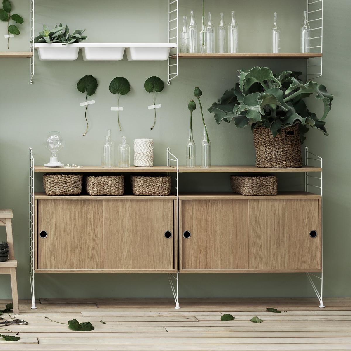 string bevestiging voor opslag connox. Black Bedroom Furniture Sets. Home Design Ideas
