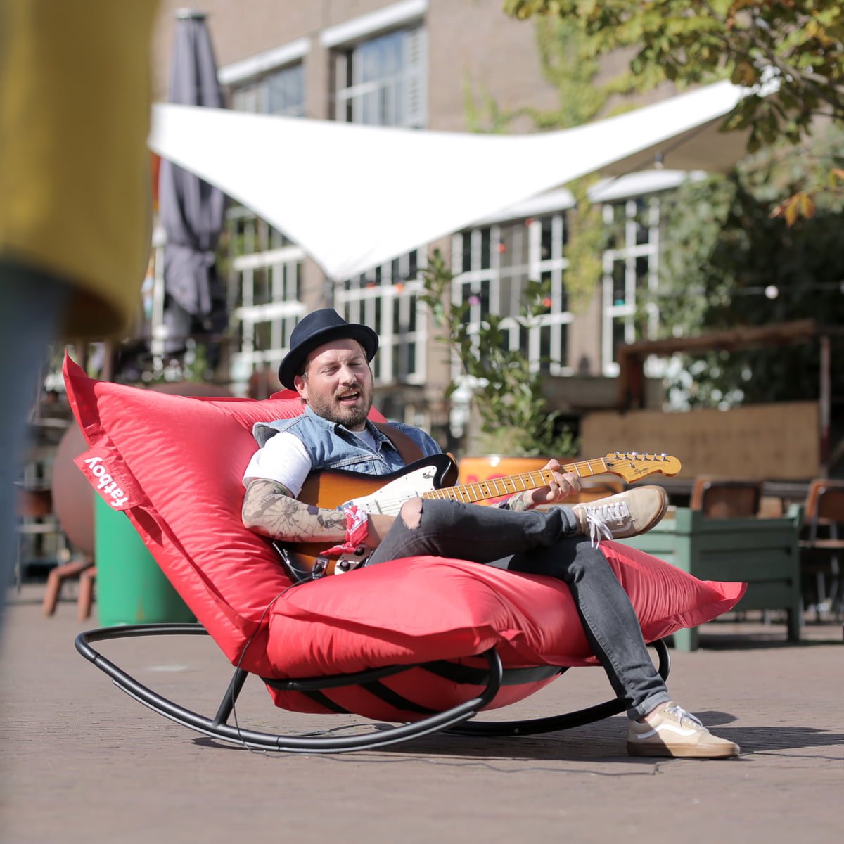 Zitzak Zwart Fatboy.Fatboy Rock N Roll Lounge Chair Connox