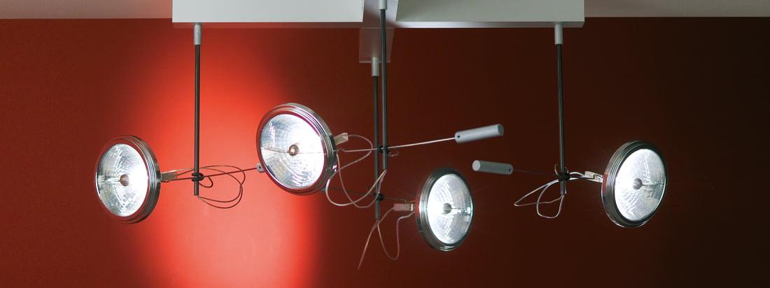 Absolut Lighting is een bekende fabrikant van armaturen. De Spotlight plafondlamp kan goed gebruikt worden als spot in donkere ruimtes. Verkrijgbaar met 1, 2, 3 of 4 spots.