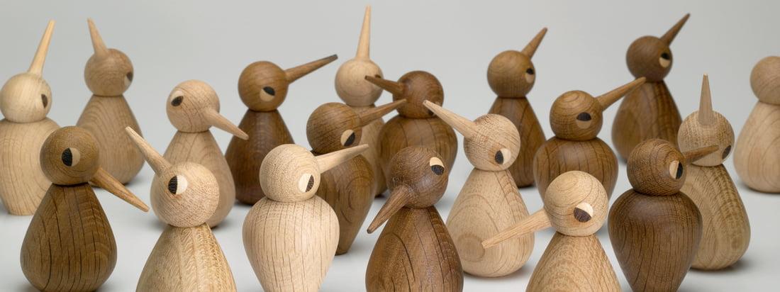 AchitectMade is onder andere bekend om zijn houten figuren. De Birds, ontworpen door Kristian Vedel, zijn verkrijgbaar in verschillende vormen, maten en houttinten.