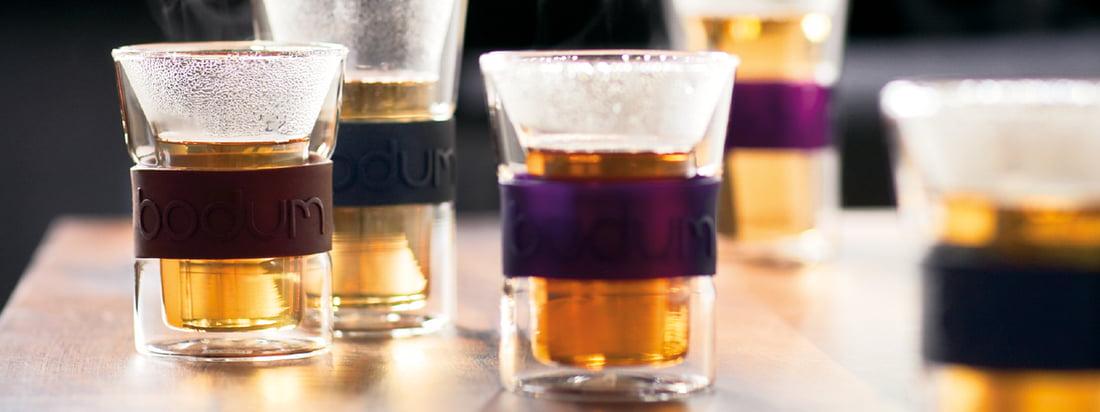 Bodum is een bekende fabrikant van keukenproducten. De dubbelwandige Assam glazen houden warme dranken warm en beschermen de handen tegen verbranding aan het glas.