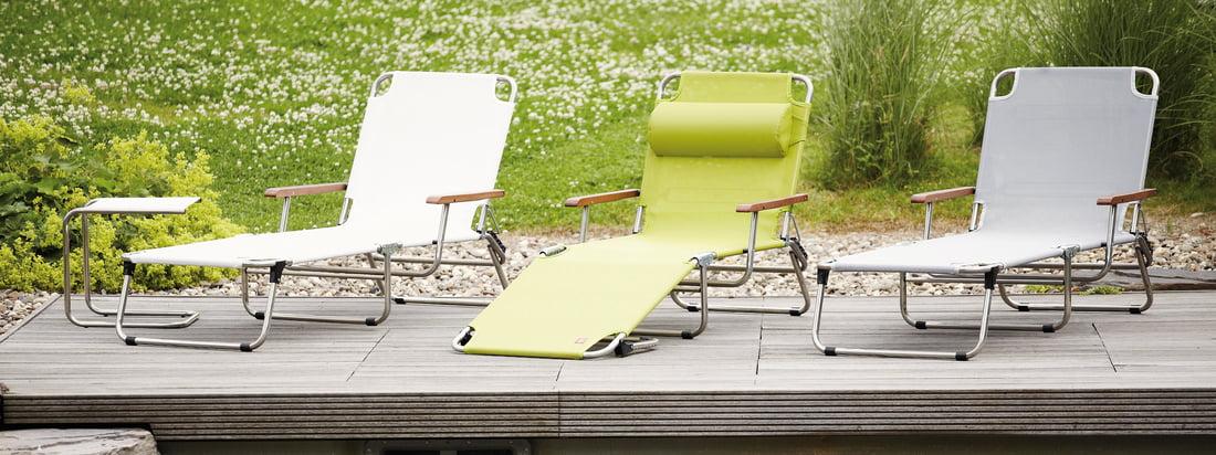 Italiaans ontwerp van Fiam: hoogwaardige gardemmeubelen zoals de Amigo Aluminium Lounger. De Lounger is een elegante blikvanger voor uw tuin. Verkrijgbaar in verschillende kleuren.