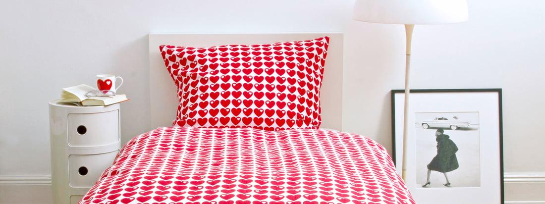Het merk byGraziela is gespecialiseerd in producten voor kinderen. Het beddengoed met hartjes laat de kamer van uw kind schitteren in een helderrode kleur. Verkrijgbaar in de designwinkel!