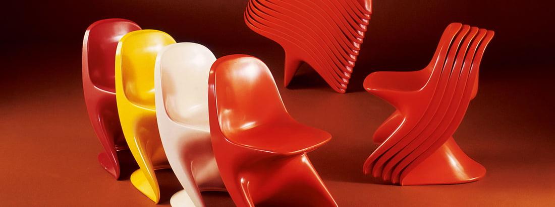 De fabrikant Casala staat bekend om zijn kleurrijke stoelen. De beroemde Casalino stoel is verkrijgbaar voor kinderen en volwassenen in vele kleuren en kan gemakkelijk worden gestapeld.