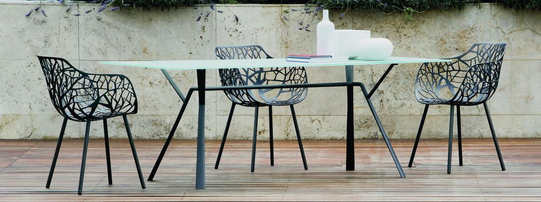Fast is een Italiaanse meubelfabrikant. De Forest Outdoor Chair en de Radice Quadra eettafel verrijken uw terras dankzij het onmiskenbare design.