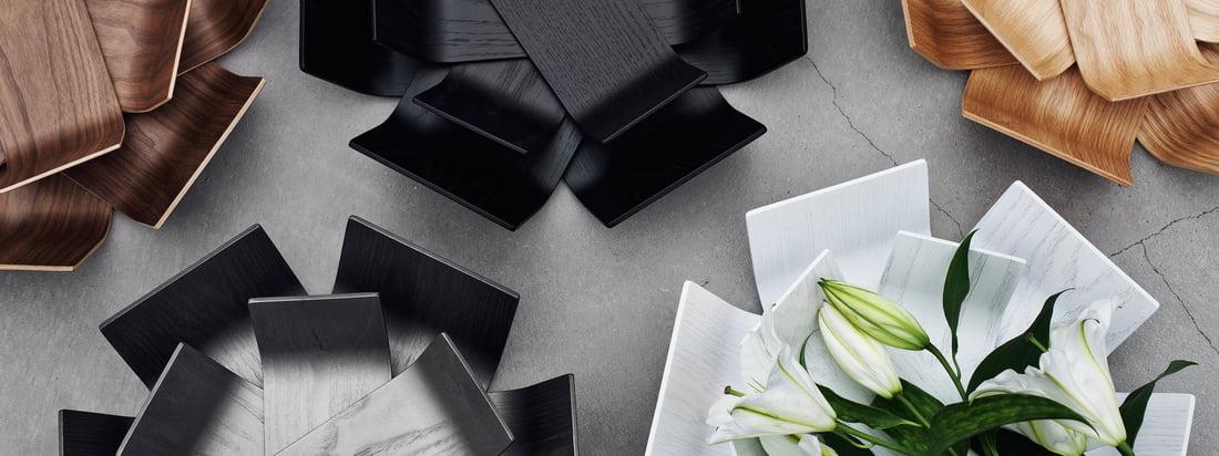 BeDesign is een Fins ontwerpbureau. De Lily Bowl in wit, zwart of bruin doet denken aan een bloeiende bloem. Deze bijzondere, mooie kom is gemaakt van hout.