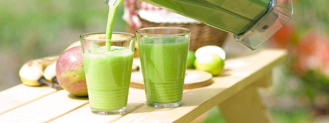 De Blender van Bianco mengt groene smoothies in een handomdraai. Met de Premium Wet Blender Jug worden de verse en heerlijke drankjes op de reguliere manier geserveerd.