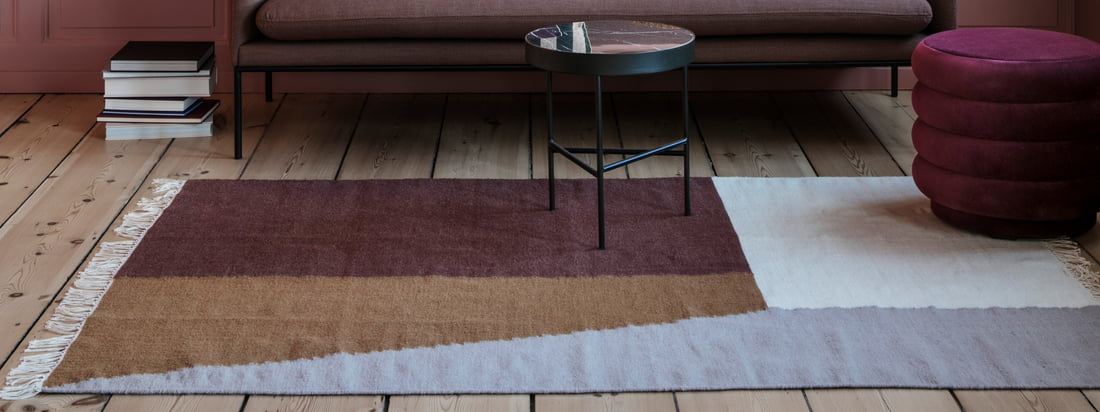 ferm living - Kelim Carpet Square - Collectiebanier