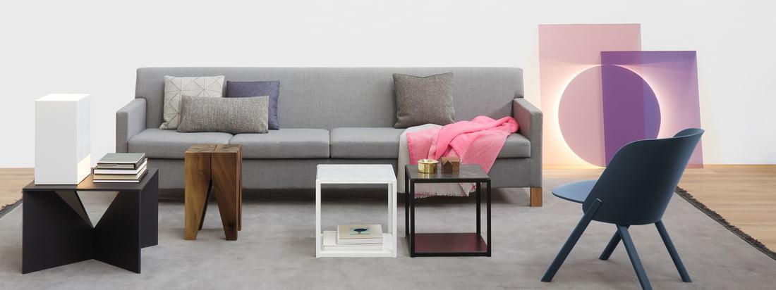 Het bedrijf e15 produceert hoogwaardige meubels zoals de Backenzahn Molar Side Table, de This Chair, de Calvert Coffee Table en de FortyForty Table. Koop hier in de designwinkel.