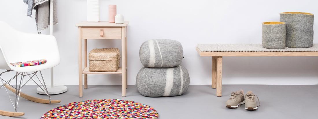 myfelt tapijten van vilt en in verschillende vormen