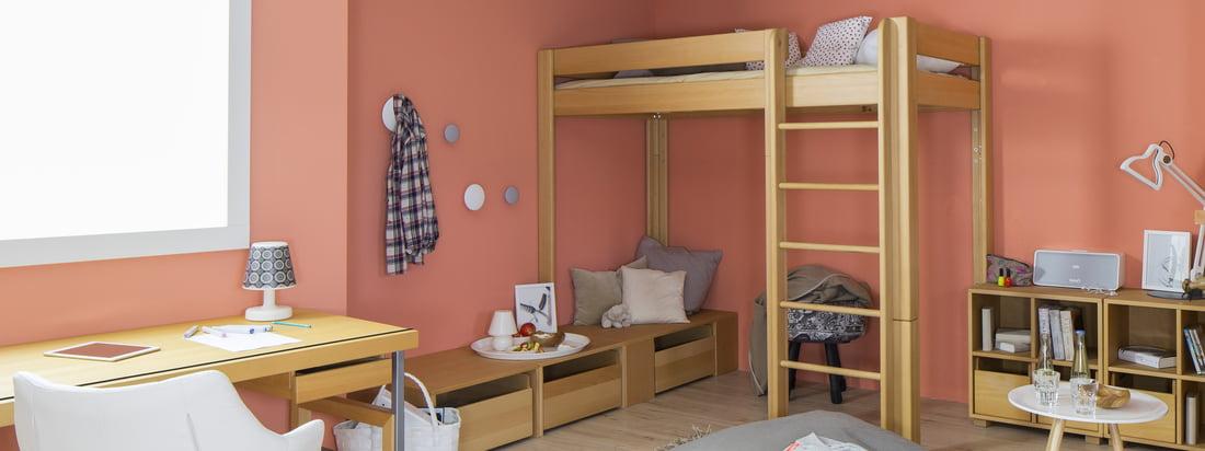 De Breuyn is een fabrikant uit Keulen. Koop ecologisch meubilair voor kinderen zoals het debe.destyle stapelbed in de winkel. Een bed - 5 verschillende hoogtes.