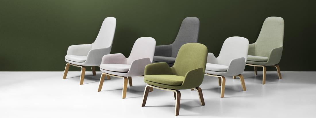 Klassiek, vriendelijk, nostalgisch en bochtig. Zo kan de collectie hoge en lage loungestoelen ontworpen door Simon Legald voor Normann Copenhagen het beste worden omschreven.