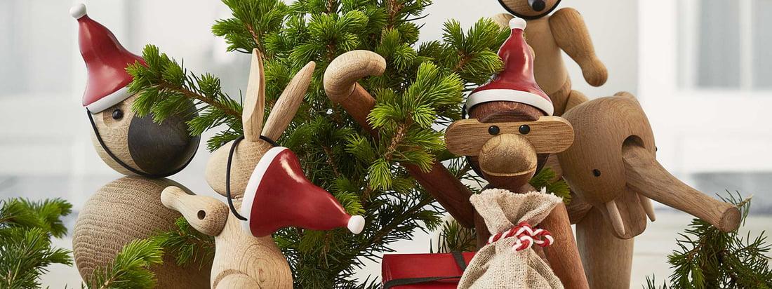 Kay Bojesen aap met Santa's pet
