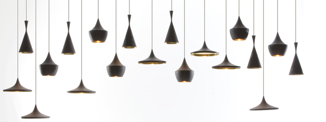 Tom Dixon - Beat Pendant Lamp, zwart 16zu6