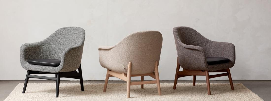 Samen of apart - de stoelen uit de collectie van Menu Harbour kunnen prachtig gecombineerd worden en bieden de ideale zitgelegenheid van de eetkamer tot aan het kantoor.