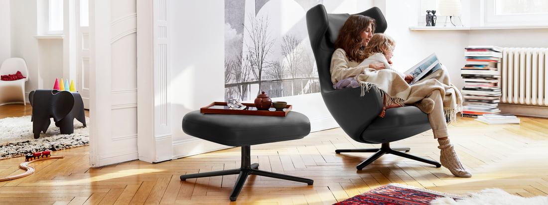De Grand Repos en Repos Lounge Chairs van Vitra zijn meer dan alleen comfortabele fauteuils: ze passen perfect in de sfeer en bieden stijlvol comfort.