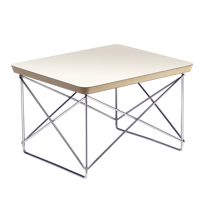 Eames Occasional Table LTR van Vitra in HPL Wit / Chroom