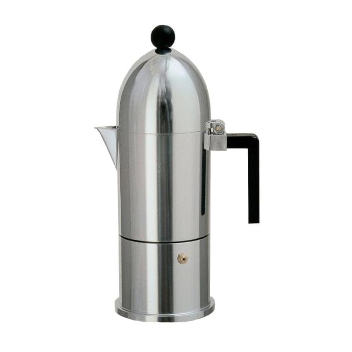 A di Alessi - La Cupola Espressomachine 9095, 15 cl, zwart