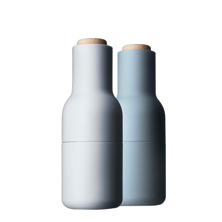 Menu - Fles Zout- en pepermolen, klein - lichtblauw