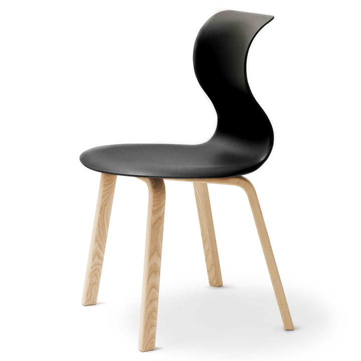 Flötotto - Pro 6 vierpoot houten frame, zwart