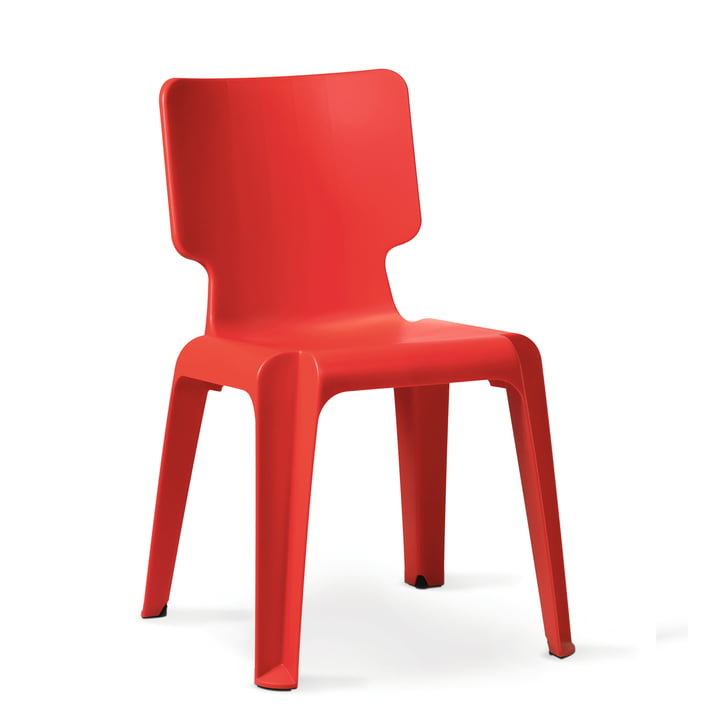Authentiek - Wachtstoel, rood