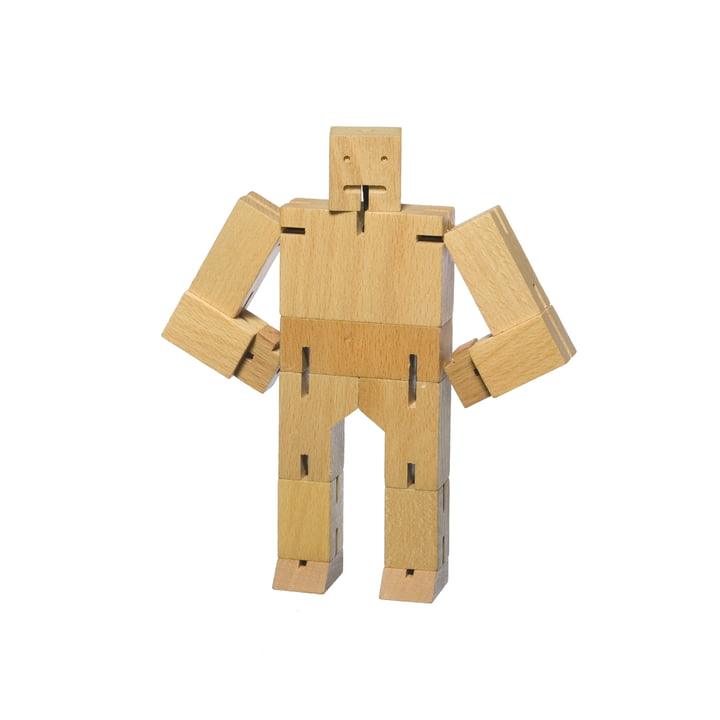 Areaware - Cubebot, klein, beukenhout