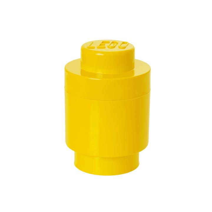 Lego - Bewaarbaksteen 1 Rond, geel