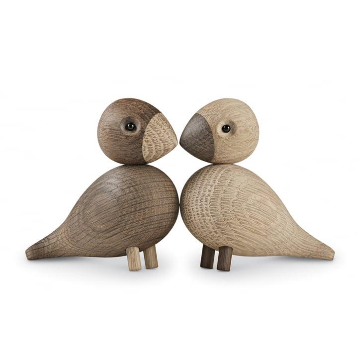 Kay Bojesen - Lovebirds set van 2, houten vogels