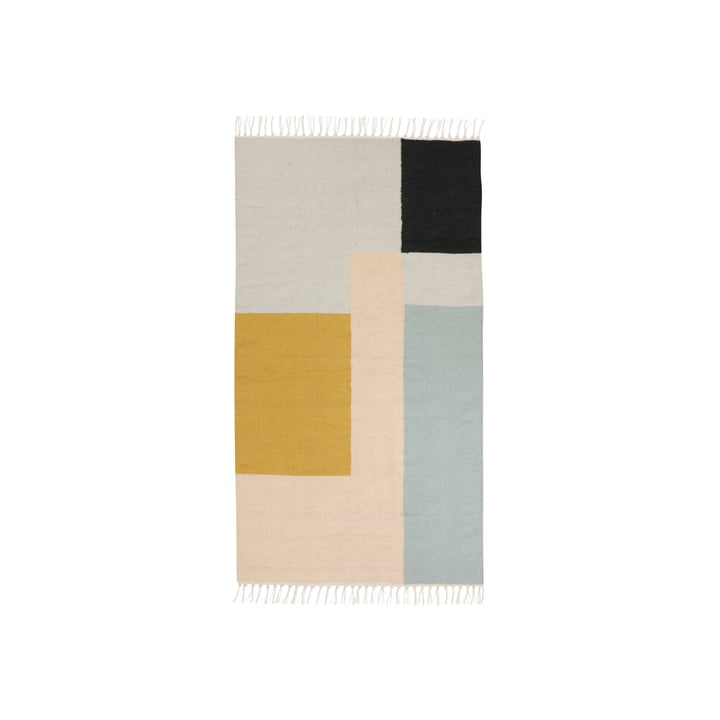 ferm living - Kelim Vloerkleed, vierkanten, klein