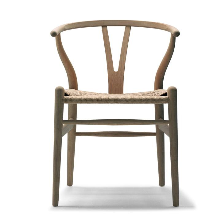 CH24 Wishbone Chair van Carl Hansen in eik geolied / natuurvlechtwerk