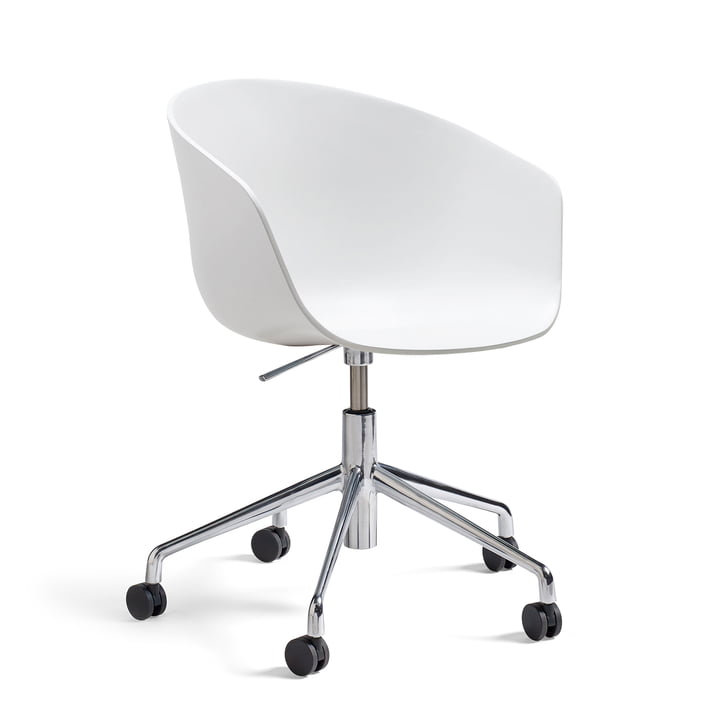 Hay - About A Chair AAC 52 met gasveer, gepolijst / wit