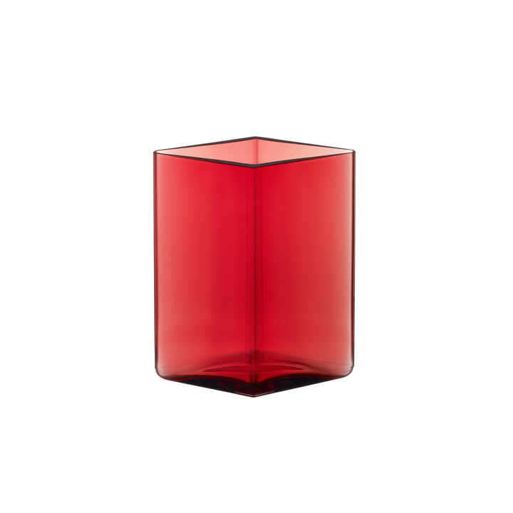 Ruutu Vaas 115 x 140 mm van Iittala in Cranberry