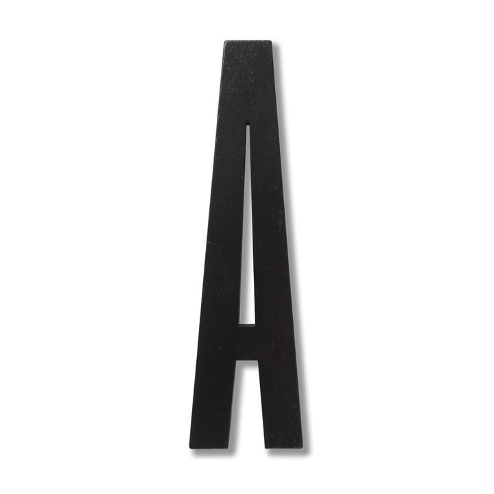 Houten letters binnenshuis A van Design Letters in zwart