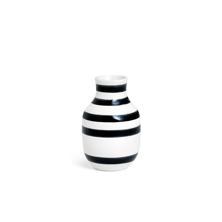 Omaggio Vaas H 125 van Kähler Design in zwart/wit