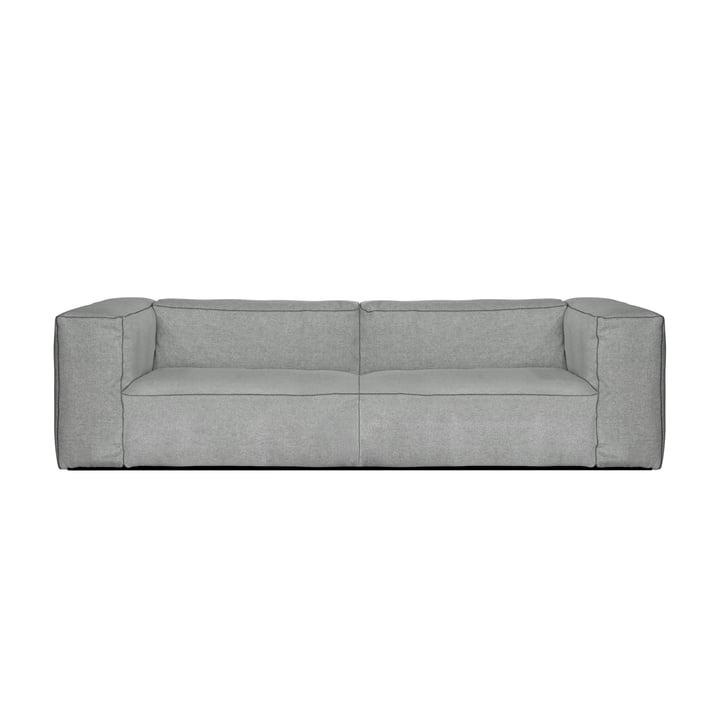 Hooi - Mags Zachte Sofa 2,5-zits, Combinatie 1, lichtgrijs (Hallingdal 130) / Naden: donkergrijs