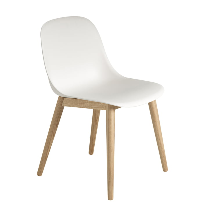 Muuto - Fiber Side Chair Hout, eiken / wit