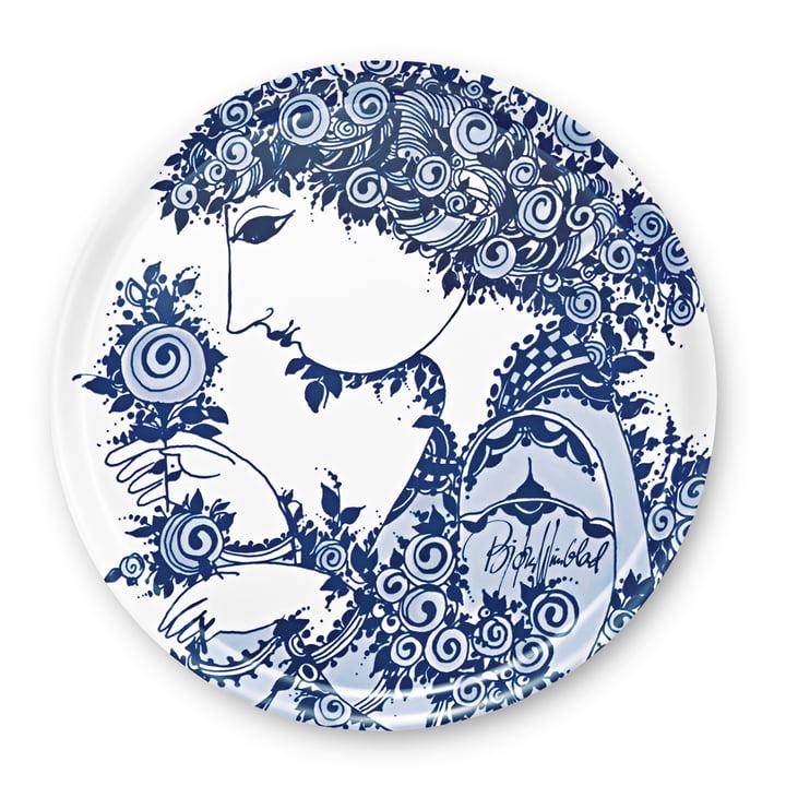 Bjørn Wiinblad - Dienblad Rosamunde, blauw