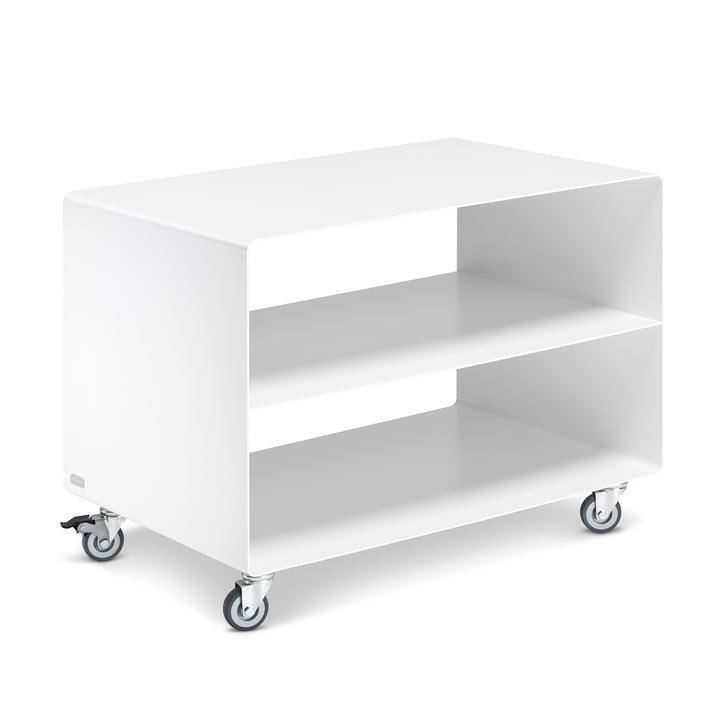 R 103N wagen met centraal onderstel van Müller Furniture Manufacturing in gesatineerd mat signaalwit (RAL 9003)