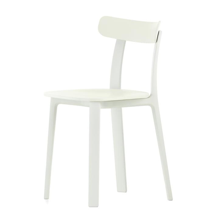 De All Plastic Chair in het wit van Vitra