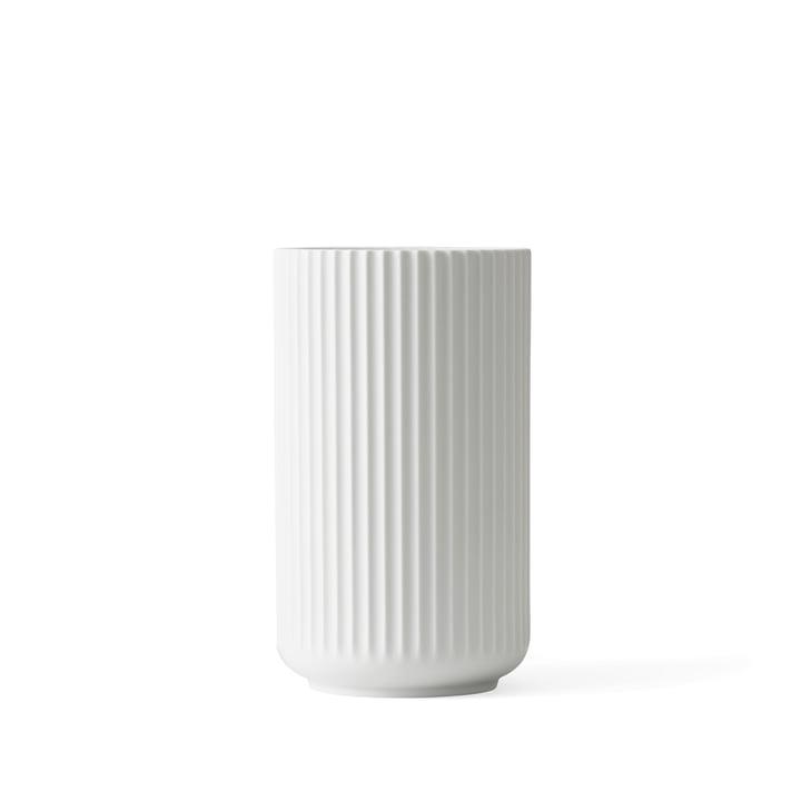Lyngby Porcelæn - Lyngby Vaas, wit mat, H 12 cm