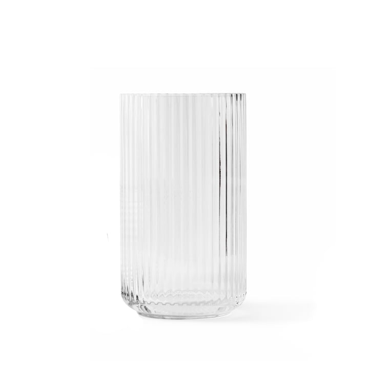 Glazen vaas H 15,5 cm van Lyngby Porcelæn in transparant