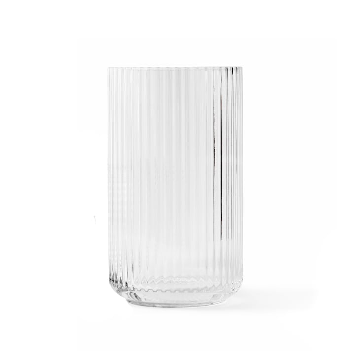 Glazen vaas H 20 cm van Lyngby Porcelæn in transparant