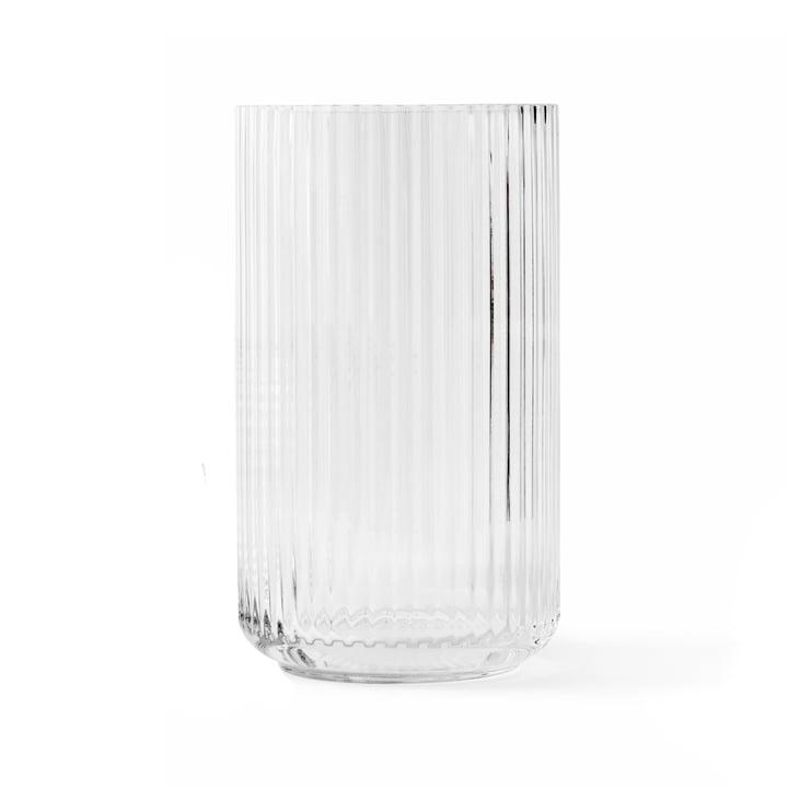 Glazen vaas H 25 cm van Lyngby Porcelæn in transparant
