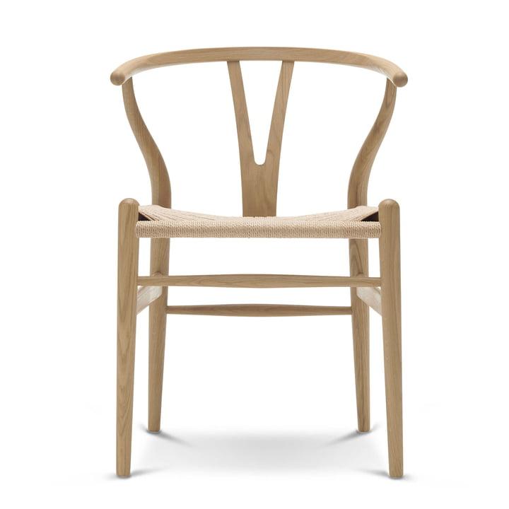 CH24 Wishbone Chair van Carl Hansen gezeepte eik / natuurvlechtwerk