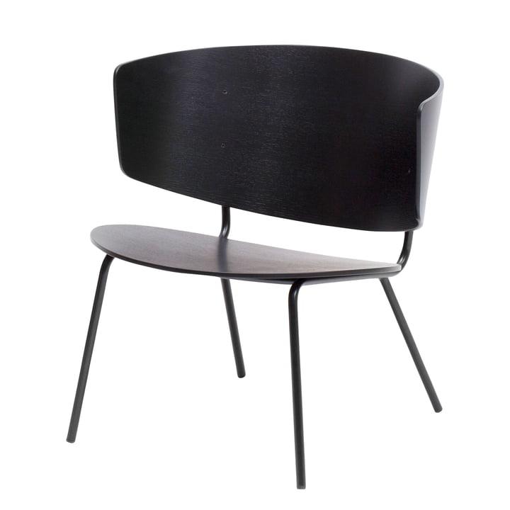Herman Lounge Chair van ferm Leven in zwart